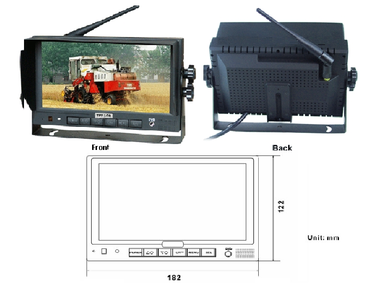 "7"" Digital LCD Wireless Pro. Backup camera KITs"