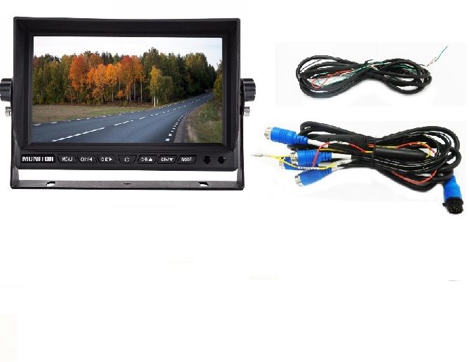 Quad Cameras Monitor with DVR