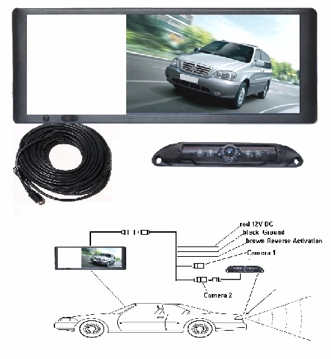 "Backup Camera system 7"" Mirror Type LCD  SMV1300-1634KIT"